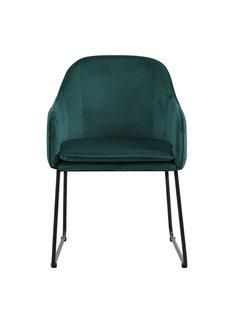 Livingfurn Chair - Benthe Green Velvet