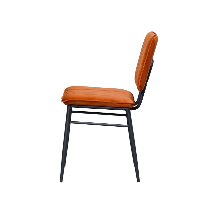 Brix Chair Harvey Copper Velvet