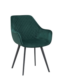 Livingfurn Chair - Luca Green Velvet