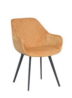 Livingfurn Chair - Luca Oker Velvet