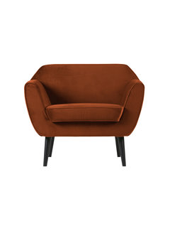 WOOOD Rocco Fauteuil Fluweel Roest