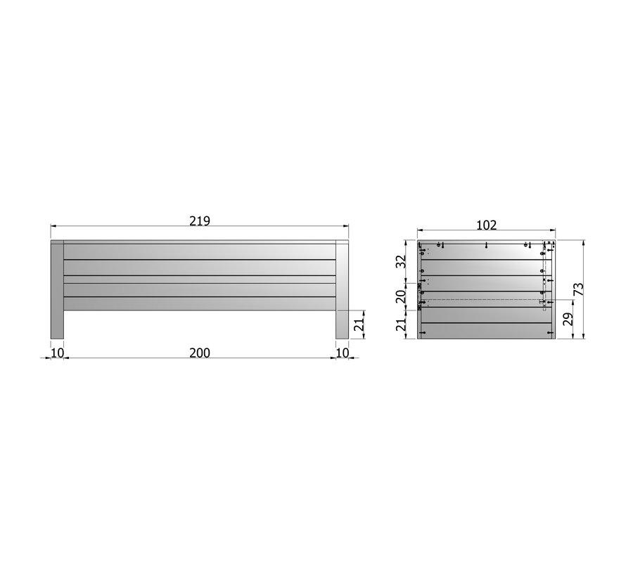 Dennis Bedbank Steel Grey (excl Lade) [fsc]