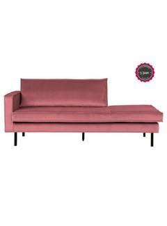 BePureHome Rodeo Daybed Left Velvet Pink