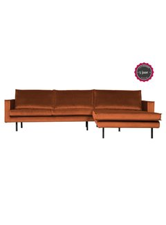 BePureHome Rodeo Chaise Longue Rechts Velvet Roest