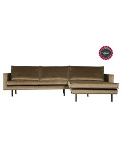 BePureHome Rodeo Chaise Longue Rechts Velvet Taupe
