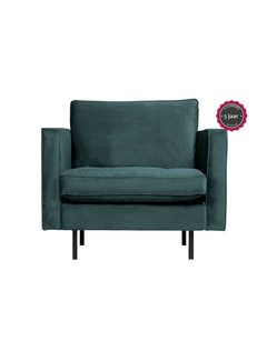 BePureHome Rodeo Classic Fauteuil Velvet Teal