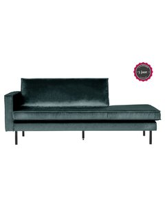 BePureHome Rodeo Daybed Left Velvet Teal