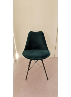 Livingfurn Chair - Luna Velvet Grey