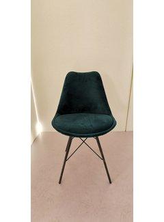 Livingfurn Chair - Luna Velvet Green