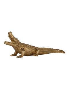 Richmond Interiors Crocodile deco object large (Goud)