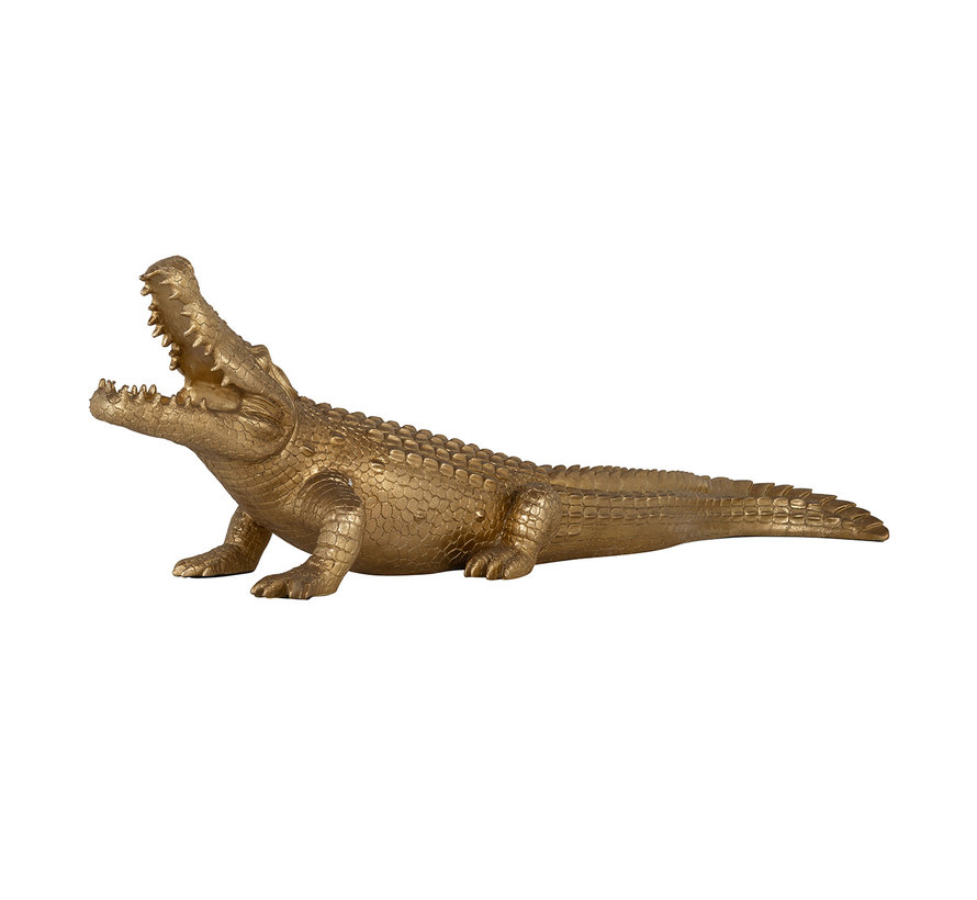 Crocodile deco object large (Goud)