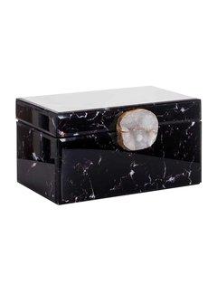 Richmond Interiors Juwelen box Maeve zwart marmer look (Zwart)