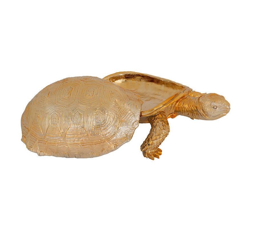 Decoratie box Turtle (Goud)