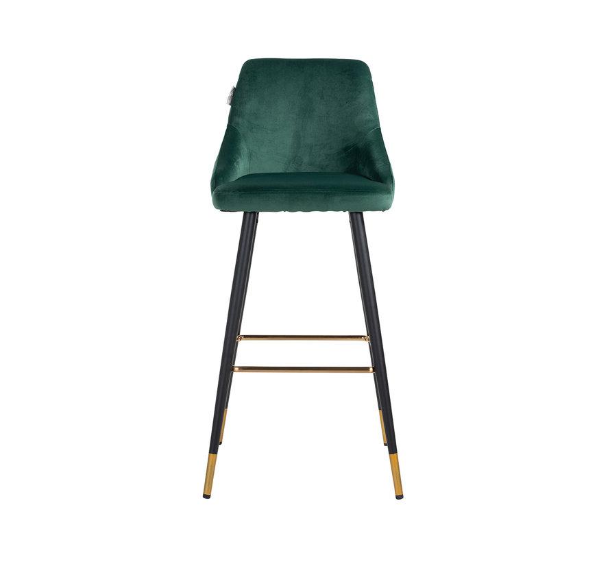 Barstoel Imani Green Velvet (Quartz Green 501)