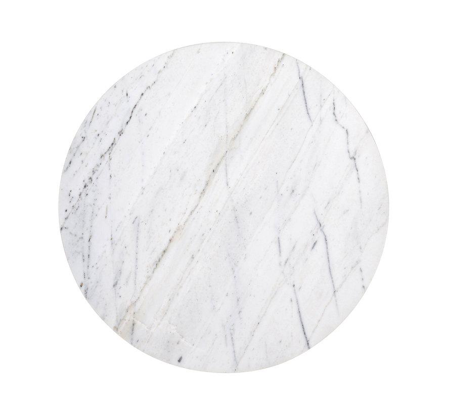 Bijzettafel Lexington white rond 40Ø (White)