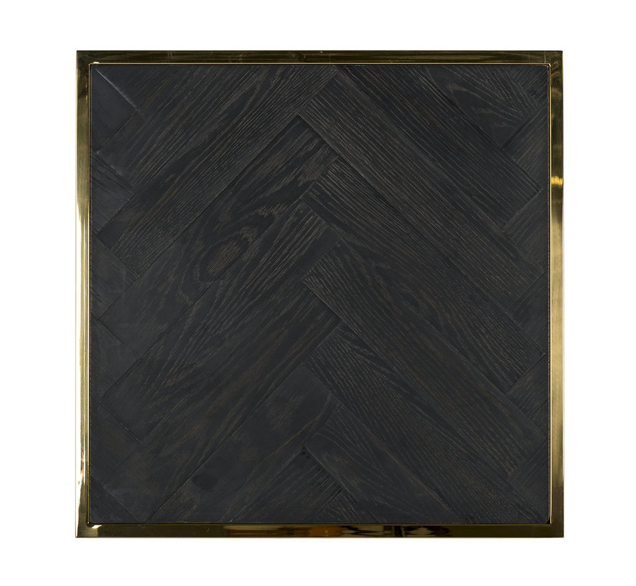 Bijzettafel Blackbone gold 50x50 (Goud)