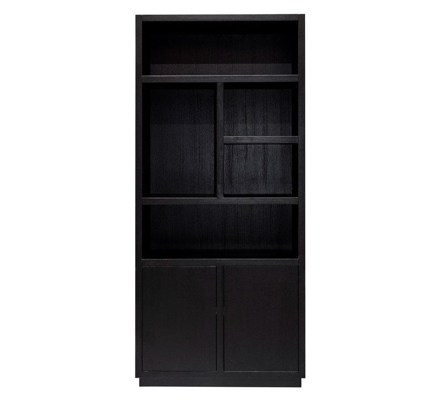 Boekenkast Oakura 2-deuren (Zwart)