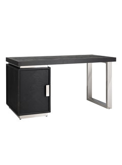 Richmond Interiors Bureau Blackbone silver 1-deur (Zilver)