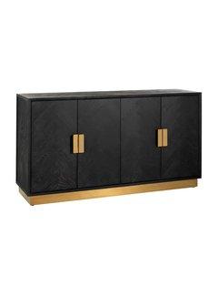 Richmond Interiors Dressoir Blackbone gold 4-deuren (Goud)
