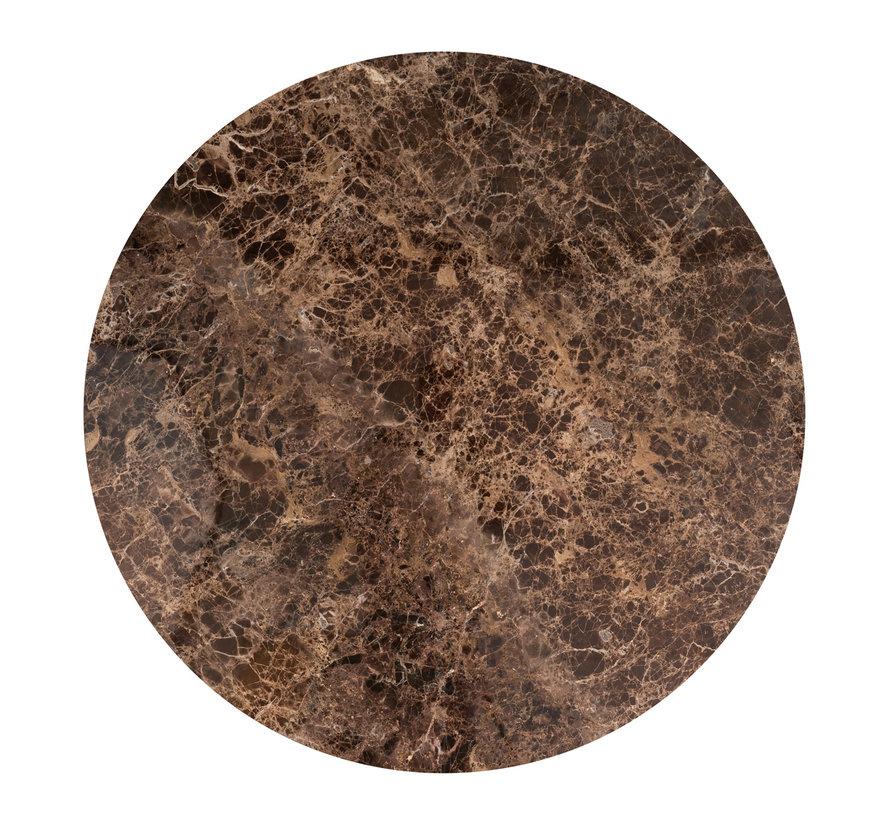 Eettafel Dalton brown emperador rond 130Ø (Bruin)