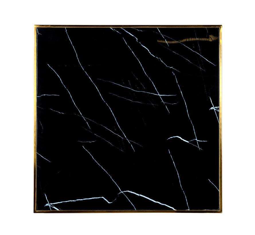 Eettafel Can Roca square black 70x70 (Goud)