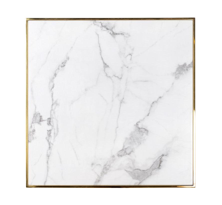 Eettafel Osteria square 70x70 (Goud)