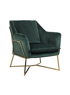 Richmond Interiors Fauteuil Aurelia Green velvet / gold (Quartz Green 501)