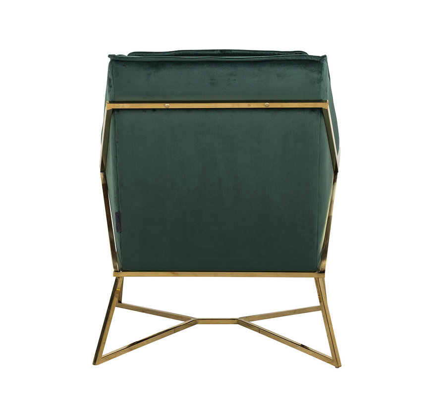 Fauteuil Aurelia Green velvet / gold (Quartz Green 501)