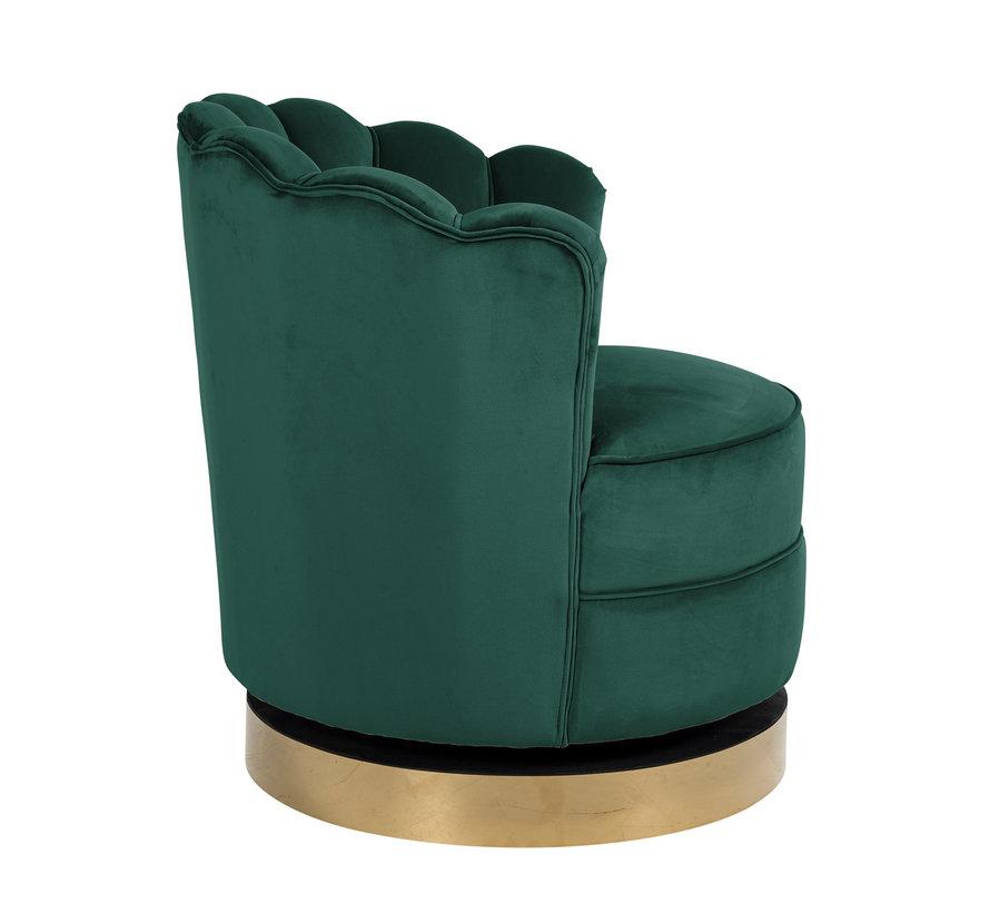 Draaifauteuil Mila Green Velvet (Quartz Green 501)