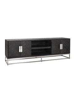 Richmond Interiors TV-dressoir 185 Blackbone silver 4-deuren (Zilver)