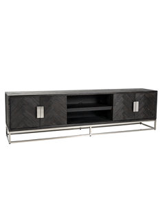 Richmond Interiors TV-dressoir 220 Blackbone silver 4-deuren (Zilver)