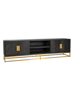 Richmond Interiors TV-dressoir 220 Blackbone gold 4-deuren (Goud)