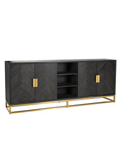 Richmond Interiors Dressoir Blackbone gold 4-deuren + open vak (Goud)