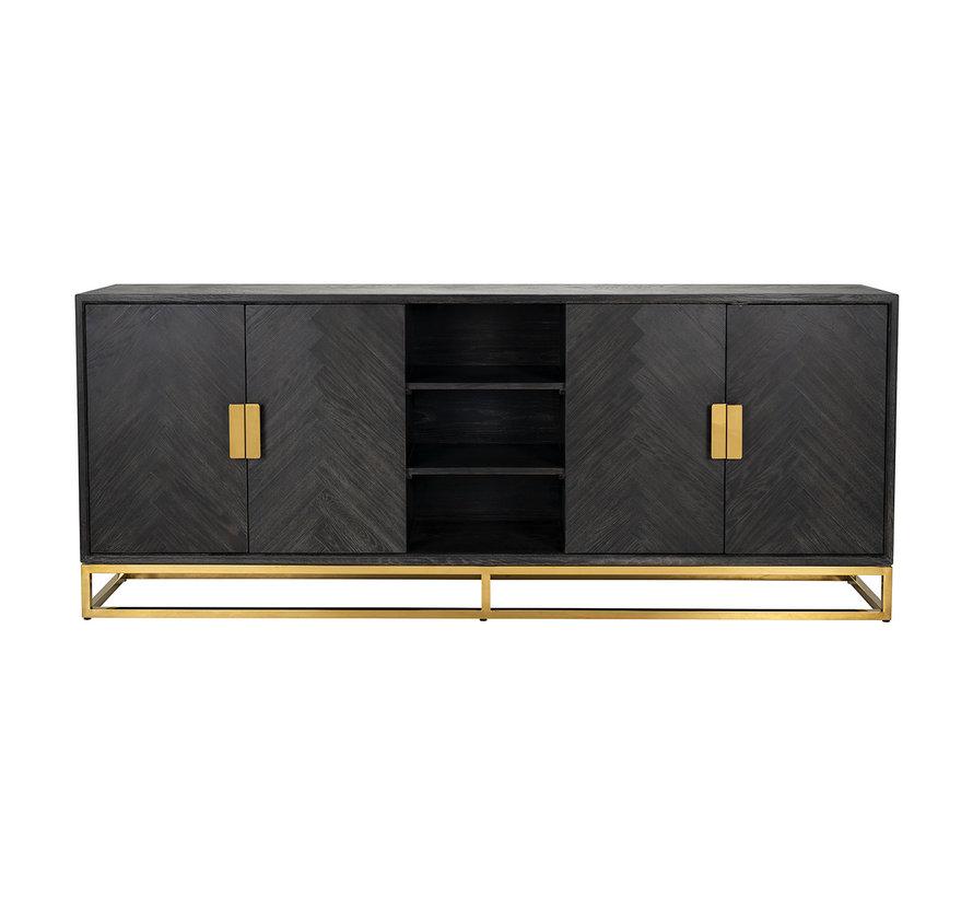 Dressoir Blackbone gold 4-deuren + open vak (Goud)