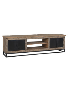 Richmond Interiors TV-dressoir Raffles 4-deuren, gerecyceld hout