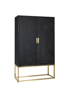 Richmond Interiors Wandkast Blackbone gold 2-deuren laag (Goud)