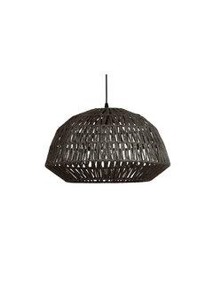 WOOOD Kace Hanglamp Jute Zwart Ø45cm