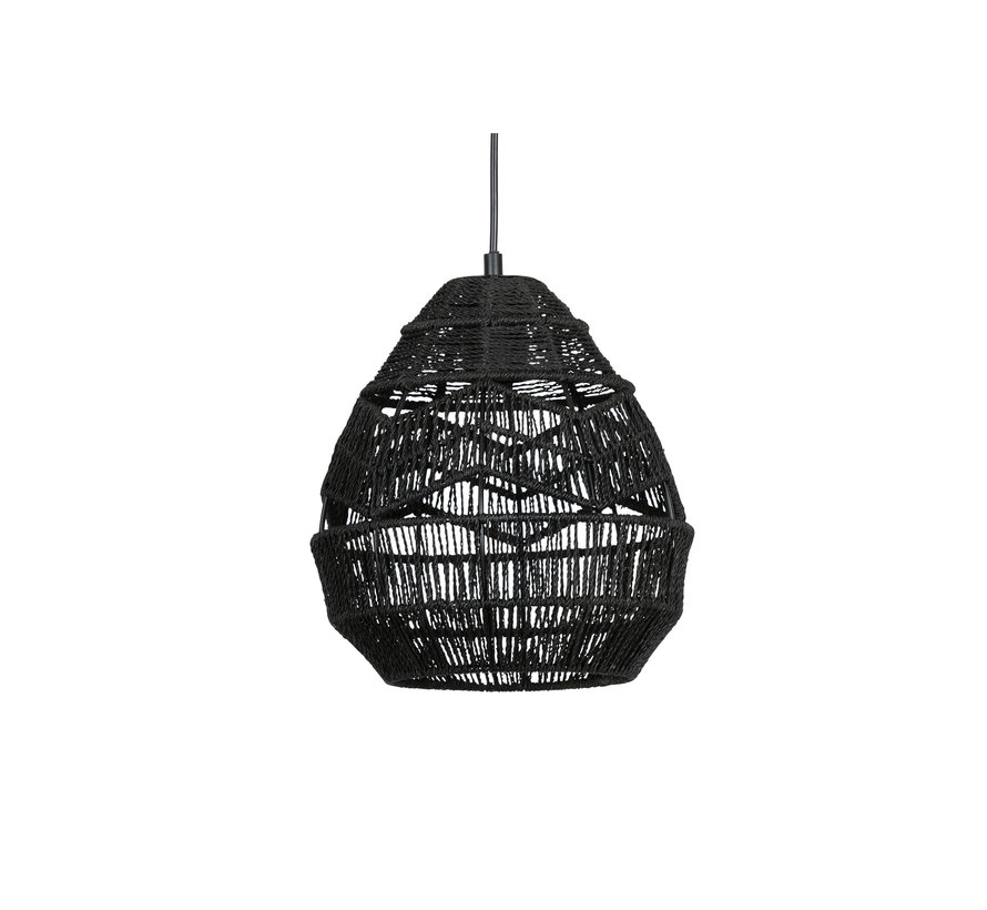 Adelaide Hanglamp Zwart Ø25cm