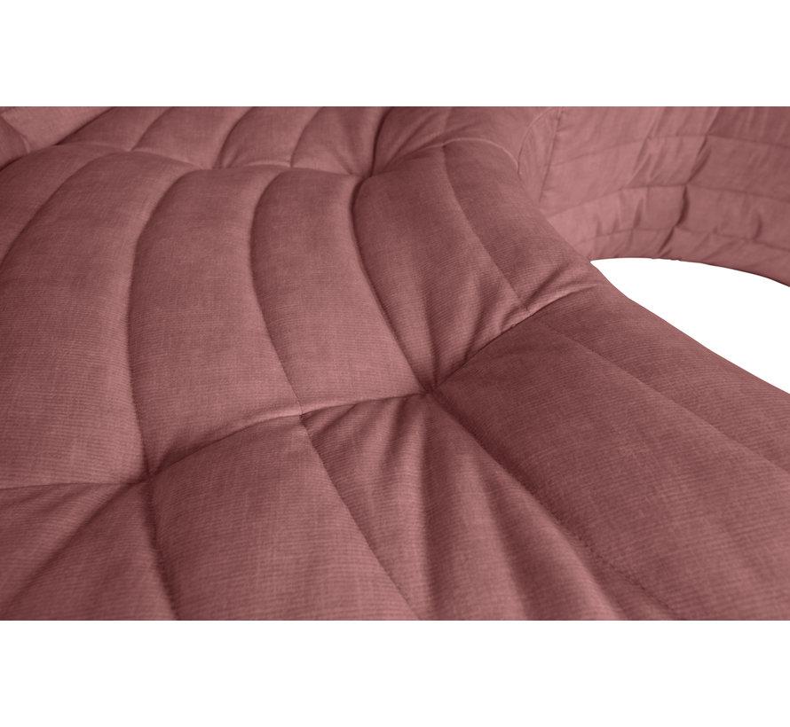 Bag Hoekelement Fluweel Roze