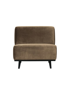 BePureHome Statement Fauteuil Fluweel Taupe