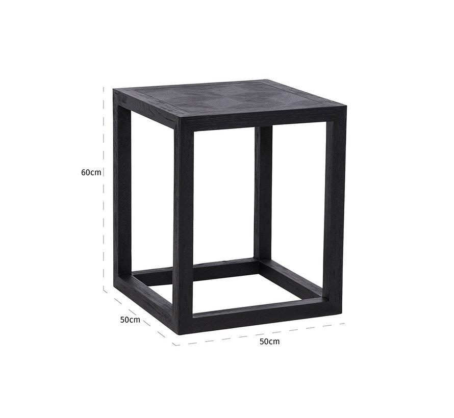 Bijzettafel Blax 50x50 (Zwart)