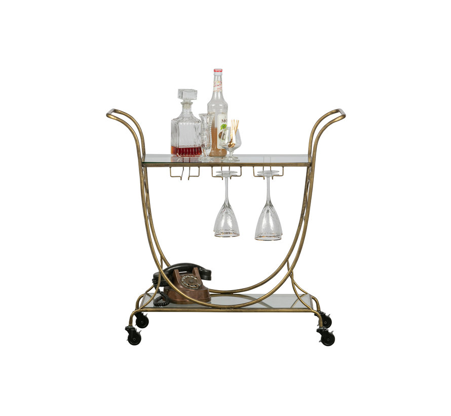 Decadent Trolley Metaal Antique Brass
