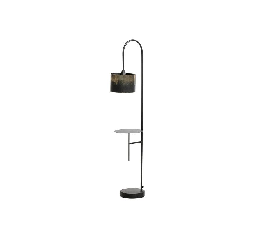 Blackout Vloerlamp Metaal Zwart