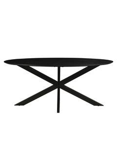 Livingfurn DT - Oslo Oval Acasia Black  180 cm