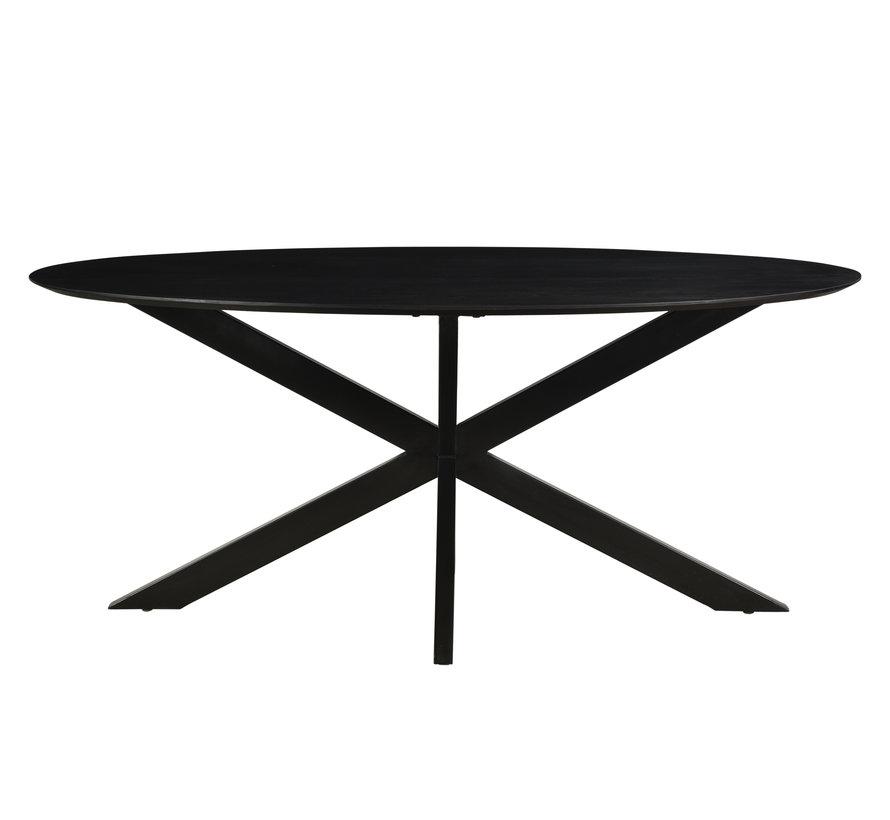 DT - Oslo Oval Acasia Black  180 cm
