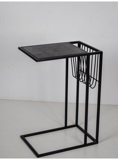 Livingfurn CT - Marble Sofatable LB Black Black