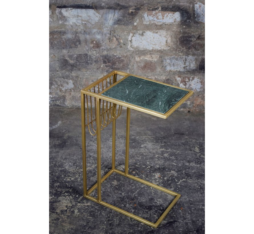 CT - Marble Sofatable LB Green Brass