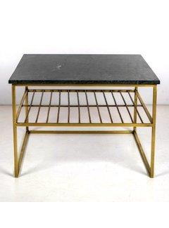 Livingfurn CT - Square Marble Green Gold 55cm
