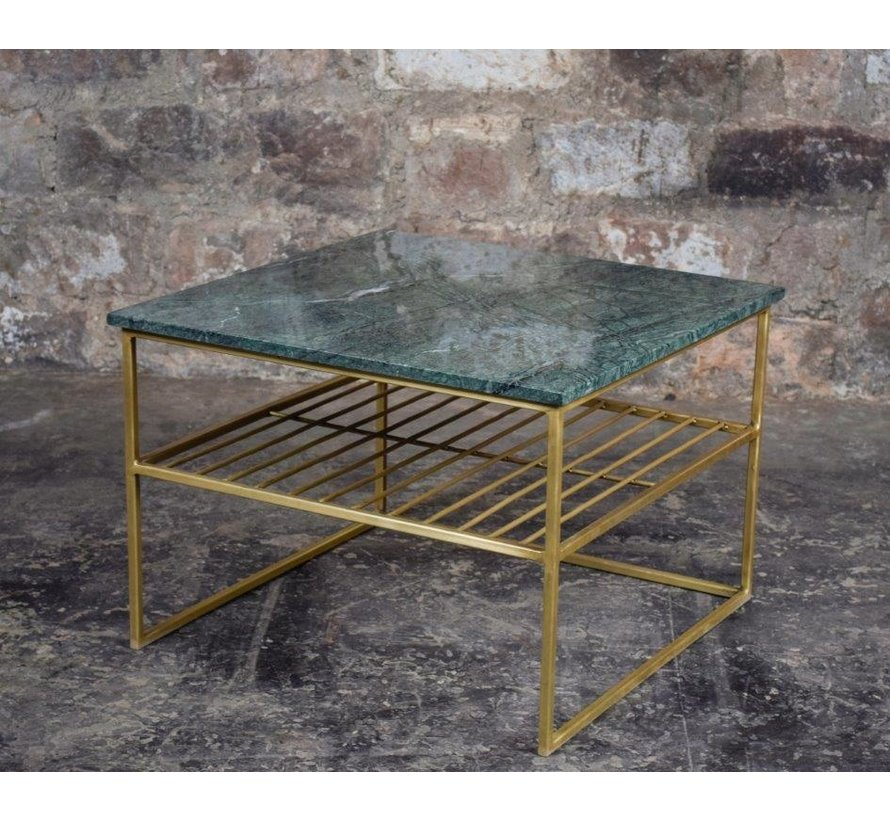 CT - Square Marble Green Gold 55cm
