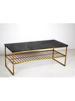 Livingfurn CT - Rectangular Marble Black Gold 90cm